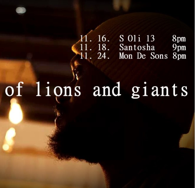 Of Lions And Giants show dates 1